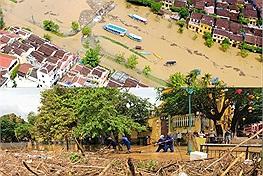 Những hình ảnh của một Hội An trầm lặng trong mùa dịch còn chưa qua lại xót xa hơn với một phố cổ chìm trong lũ