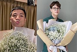 """20/10, những ông bố nổi tiếng showbiz Việt bất ngờ khoe hoa """"vừa xinh vừa ngon"""" tặng người ấy khiến netizen ghen tị"""