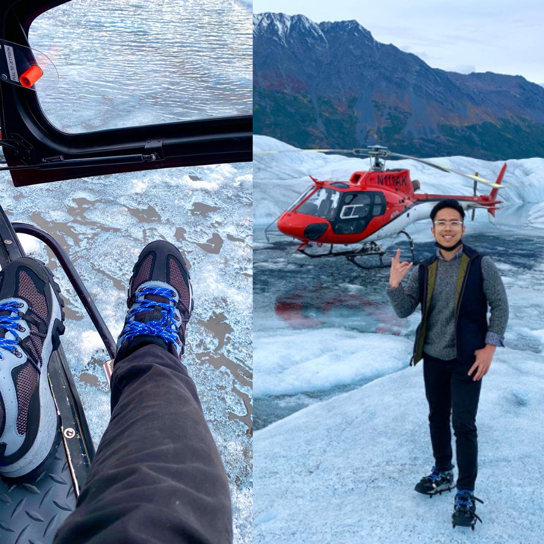 """9x Việt và những trải nghiệm """"đỉnh của chóp"""": đi trực thăng, khám phá núi băng hùng vĩ và uống nước tinh khiết ở Alaska"""